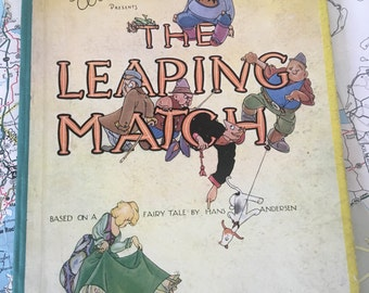 The Leaping Match Bryan Ward Hans Andersen Fairy Tale Vintage Children's Book First Edition