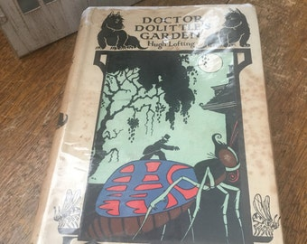 Doctor Dolittle's Garden - Hugh Lofting - First Edition Vintage Illustrated Antiquarian Book