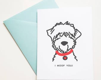 Birthday card from dog to mom or dad, Cards from dog, birthday cards from dog, dog birthday party cards and accessories, for the dog lover