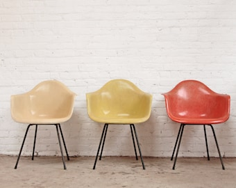 Eames Shell Chair Moulded Fiberglass Arm Chair