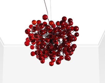 Red bubbles Ceiling lamp for dinning table, bedroom, children room.