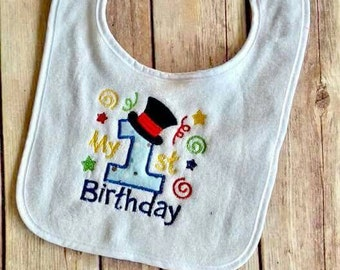 Custom bib, 1st birthday bib, boy 1st birthday bib, photo prop, cake smash boy bib, 1st birthday personalized bib