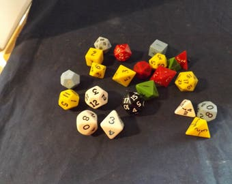 Lot of 22 Shaped Dice