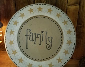Family plate,  county decor