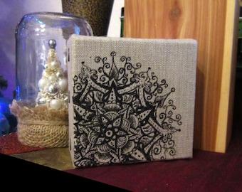 ORIGINAL ARTWORK: December Mandala 4x4 inches