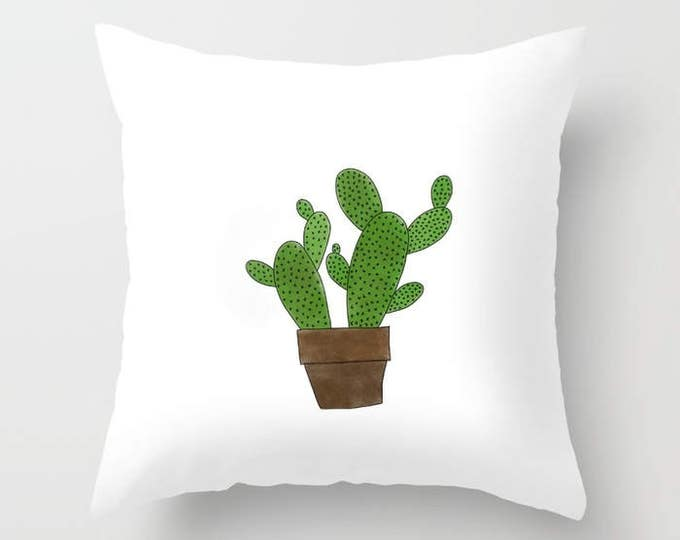 Cactus Pillow Cover - Cover Only - Southwestern Cactus -  Sofa Pillow Cover - Throw Pillow - Made to Order