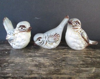 3 Cute Howard Pierce Bird Figurines
