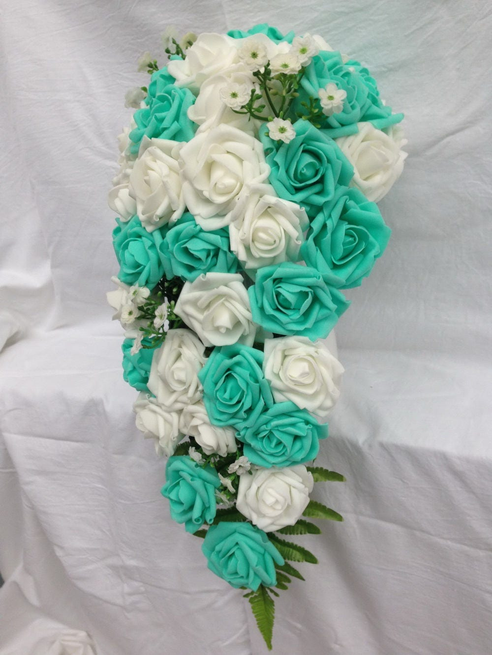 turquoise wedding flowers turquoise green white wedding bouquet turquoise flowers 8122