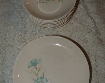 Vintage Taylor, Smith, Taylor Boutonniere Salad or Pie Plates and Berry Bowls