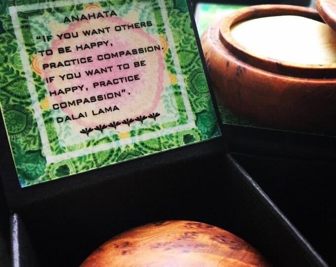 HEART Anahata CHAKRA solid perfume. 100% natural. No alcohol. Vegan. 15 g