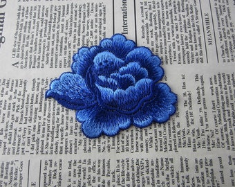 Purple Flower Embroidered Patches