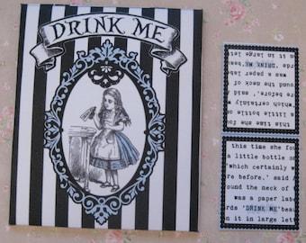 Tea Bag Envelopes - Alice In Wonderland Stripe  - Qty of 6 Envelopes