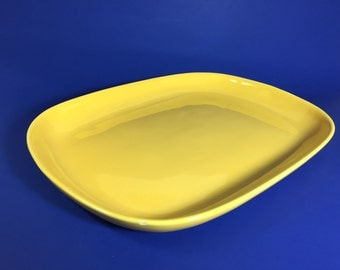 Bauer Pottery Monterey Moderne Large Serving Platter in Yellow, 1940's- 50's