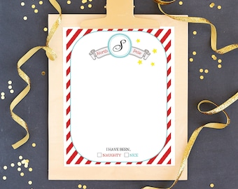 Letter to Santa and Letter from Santa - Printable Santa Letter Template - Letter to and From Santa Kit - Instant Download
