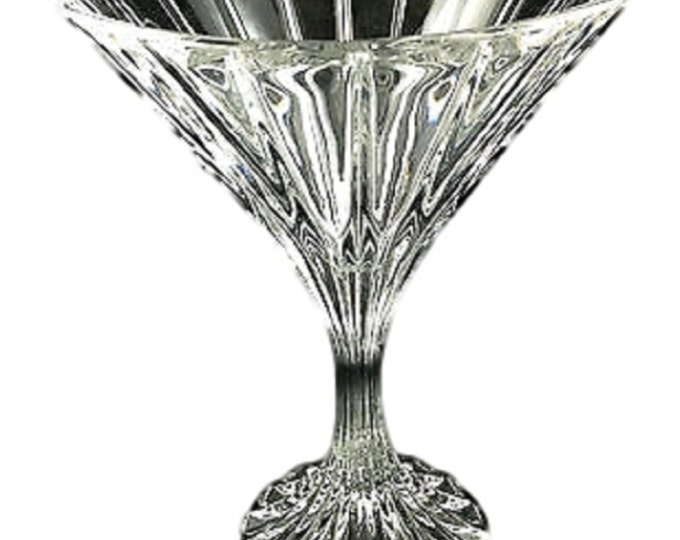 2 - Park Lane Martini Glasses, Vintage Crystal Stemware, Barware, Cocktails, Cocktail Glass, Toasting Glasses