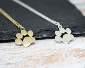 Paw Print Necklace Paw Necklace Animal Lover Gift Dog Lover Necklace Cat Lover Gift PawPrint Jewellery Pawprint Necklace Paw Charm