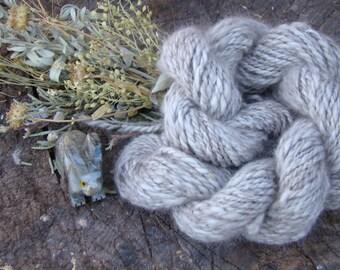 Hand Spun French Angora Rabbit Yarn - Chocolate
