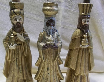 1/2 OFF!!! Vintage Wise Men with Mercury Taper Candles, Japan, T
