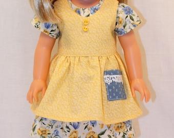 14.5 Inch Clothing - Lil' Miss Sunshine Dress, Wellie Wisher Dress