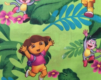 Dora The Explorer in the Jungle Cotton Fabric By the Yard