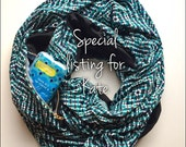 Infinity Scarf - Nursing Cover Aztec Print with Hidden Pocket