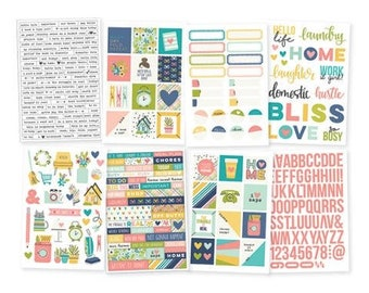 Simple Stories - Domestic Bliss Collection - 4x6 Stickers - 285 pieces - 7825