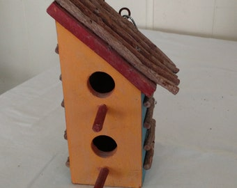 wooden bird house,French country cottage,farmhouse style