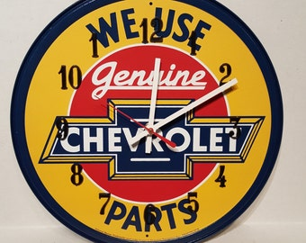 Chevrolet Metal Clock / Chevrolet Decor