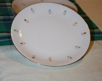 Vintage 4 Porzellanfabrik Arnzberg Bread Plates with Tiny Flowers made in Germany
