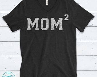 Mom 2 Shirt. Mom of Two shirt. Mother of 2 shirt. Mom Squared shirt. Mother's Day Gift For Mom. Pregnancy Announcement Shirt. New Mom Gift.