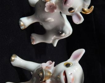 Vintage Cow Figurines