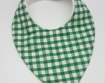 Dribble Bib - Green Gingham