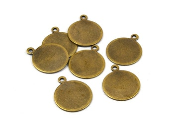 20 Pcs. Antique Brass 16 mm (0.8 mm Thick ) Stamping Blanks Findings