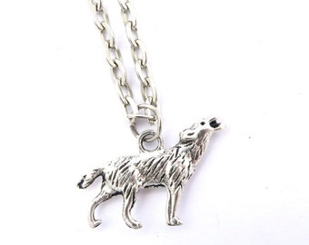 Wolf necklace Silver Wolf necklace