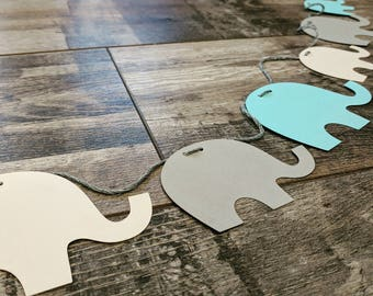 6ft Paper 'Elephants' Garland   Bespoke : All White or Choice of Colours