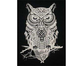 Celtic Owl Crew T-Shirt WH