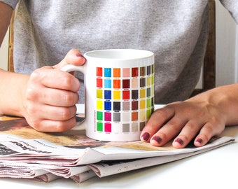 Colorful Mug, Hex Codes, RGB, Graphic Design, Gradient, Color Swatches, Gift for Designer, Computer Graphics, Dishwasher, Microwave Safe