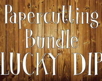 Papercutting Template Bundle LUCKY DIP - x10  (personal use)