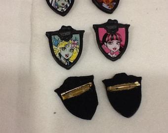Character Pins Set of 6 You Choose Character