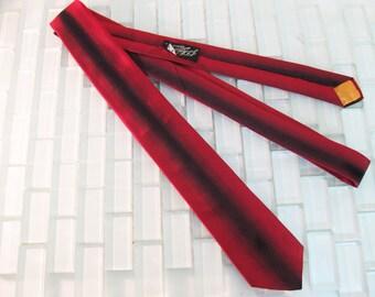 Red Silk Skinny Tie Mad Men - Red Mod Skinny Tie 100% Silk - Beau Brummel