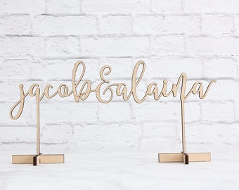 Personalized Wedding Sign, Couples Name Sign, Wood Wedding Sign, Custom Wood Wedding Sign, Laser Cut Wedding Sign, Sweetheart Table Sign