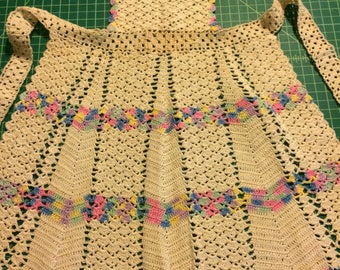 Vintage childs crochet apron