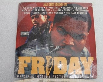 """Friday - Original Motion Picture Soundtrack"""" vinyl records, 2 LPs, Original, Ice Cube and Chris Tucker"""