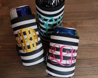 Monogram water bottle - Monogram Can - Monogram Slim Can - Monogrammed Can Cuddler®& free KOOZIE ® with purchase of Custom CanCuddler ®