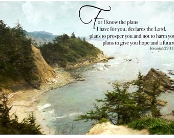 Magnet, Scripture, Jeremiah 29:11 For I know the plans I have for you,declares the LORD,plans to prosper you and not to harm you . . .