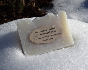 Fresh Snow Soap, Coconut Oil Soap, Handcrafted Soap