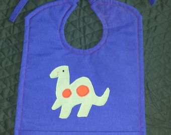 Dinosaur baby bib