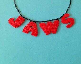 Jaws filmlogo 8-bit necklace