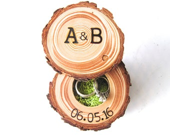 Ring Box Wedding   Wood Ring Box   Ring Bearer Box   Engagement Ring Holder