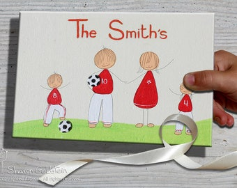 Personalized family Door Sign, Custom door sign, Football Soccer door sign,